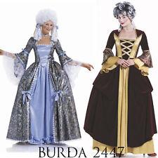 Burda 2447 Sewing Pattern Georgian Marie-Antoinette Costumes Women 10-26 Patron