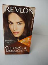 Revlon ColorSilk Permanent Hair Color Brown Black #20 Gray Coverage Ammonia Free