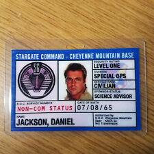 Stargate Command SG-1 ID Badge-Daniel Jackson cosplay prop costume B