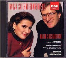 Nadja SALERNO-SONNENBERG: BARBER SHOSTAKOVICH Violin Concerto CD Maxim EMI