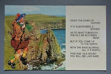 R&L Postcard: Comic, 1970's, Kilt Scotsman Traditional Scottish Clothes