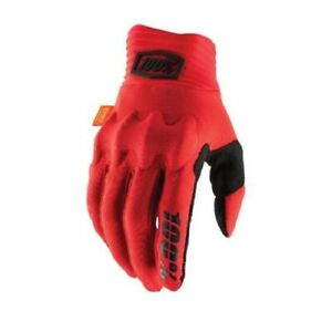 New 100% Cognito Gloves, Red/Black, Large, 10013-013-12