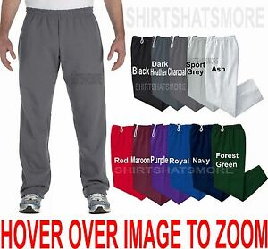 Gildan BIG MENS Open Bottom Sweatpants NO POCKETS Warm Sizes 2XL 3XL 4XL 5XL NEW