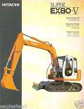 Equipment Brochure - Hitachi - Super Ex80-V - Excavator - c2000 (E2217)