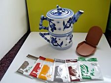 World Market Teapot, Cup, Lid, Tupperware Tea Squeezer & 6 Specialty Tea Bags
