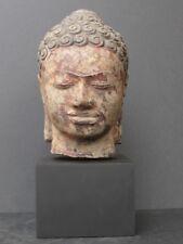 Cabeza Buda Khmer piedra arenisca del Camboya