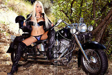 476 FRIDGE TOOL BOX MAGNET PIN UP GIRL CUTE RIKKI SIX HOT LEGS MOTORCYCLE BREAST