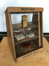Millers Forge Tabletop Display Stepped Back Design Top Opens Nice!