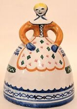 Vintage Talavera Spain Bell Lady Blond Hand Painted Ceramic Pottery Collectible