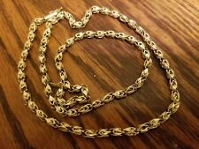14k Gold turkish Style Link Chain Necklace 20.5 Inches 16.6 grams,not scrap