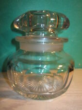 RARE VTG/ ANTIQUE Heisey Glass Crystal Clear Apothecary Jar Weighs 2 lbs. 6 oz.