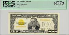 Tim Prusmack Money Art $100,000 Gold Certificate PCGS 66PPQ- STUNNING!