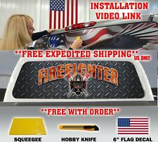 TRUCK REAR WINDOW DECAL FIREFIGHTER FIRE DEPT. FIRE RESCUE MALTESE CROSS TINT