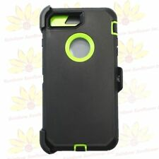 Black Green for iPhone 7 Plus Defender Case Cover w/ Belt Clip Fits Otterbox
