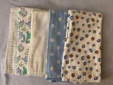 Gerber Baby Boy 5 Pack Flannel Burp Cloths