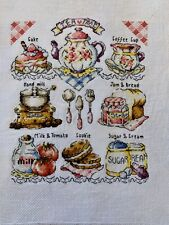 Teatime Sampler completed cross stitch Picture
