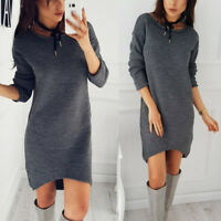 NEW Casual Loose Long Sleeve Sweater Womens O-neck Knitwear Pullover Jumper Tops