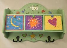 Unique Whimsical Wooden Wall Mount Coat/Hat Rack - Pre-owned