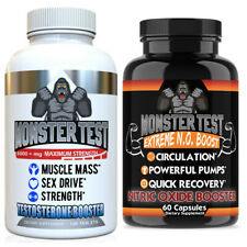 Testosterone Booster Pack w/ Monster Test + Monster Test Nitric Oxide  2-PK