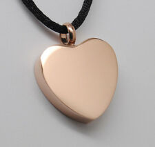 ROSE GOLD HEART URN NECKLACE CREMATION JEWELRY ENGRAVABLE CREMATION MEMORIAL