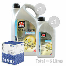 Engine Oil and Filter Service Kit 6 LITRES Millers XF Longlife C2 5w-30 6L