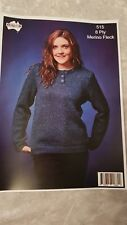Heirloom Knitting Pattern #515 Ladies Button Front Jumper to Knit in 8 Ply