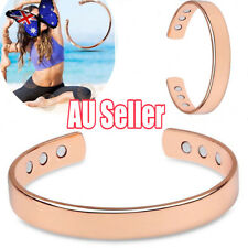 Mens Women Magnetic Therapy Bracelet Arthritis Pain Relief Pure Copper Bangle MN