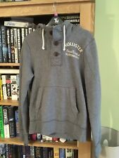Hollister Button Neck Hoodie Size Small