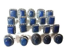 Wholesale !! Lot 50 PCs. Lapis Lazuli Gemstone 925 Sterling Silver Plated Ring