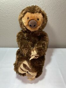 "Build A Bear 19"" Brown Sloth Plush Stuffed Animal Toy 2015 Attachable Hands Feet"