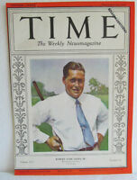 """TIME MAGAZINE """"COVER ONLY""""  SEPT., 1930-BOBBY JONES-READY TO PUT INTO A FRAME"""