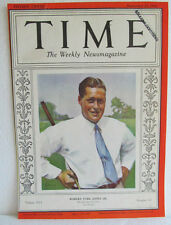 "TIME MAGAZINE ""COVER ONLY""  SEPT., 1930-BOBBY JONES-READY TO PUT INTO A FRAME"