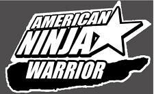 "AMERICAN NINJA WARRIOR Decal 4"" x 3""   Vinyl Sticker"