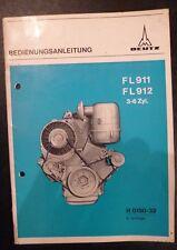 Deutz Motoren F 3-6 L 911 / 912 Betriebsanleitung