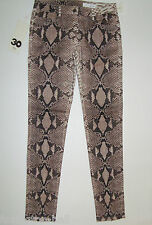 "BNWT:SASS&BIDE REPTILE PRINT SKINNY JEANS 30 ZIPPORA ""THE LONGEST NIGHTS"""