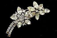 Vintage Rhinestone floral brooch.