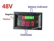 48V Charge Meter Voltmeter Acid Lead Battery Indicator,EZGO Club Car Golf Cart