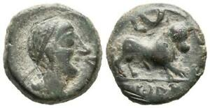 Hispania-Castulo. Semis. 180 a.C. Cazlona (Jaén). Cobre 3,9 g.