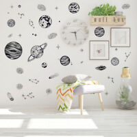 outer space world wall sticker universe planet decor vinyl art decal kids room X