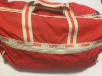 lesportsac Large Nylon Classic Weekender Duffle Bag Orange Red