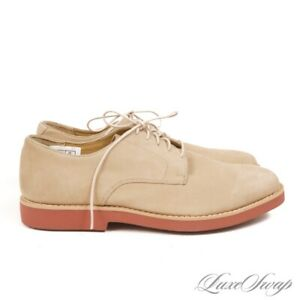 NWOB Brooks Brothers Camel Tan Brown Nubuck Suede Brick Sole Derby Shoes 10.5 NR