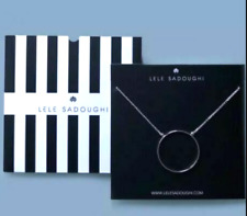 Lele Sadoughi - Silver Necklace with Circle Pendant - NEW IN PACKAGE