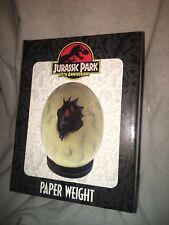 jurassic park 25th anniversary paperweight raptor egg