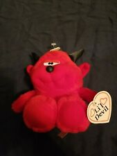 DanDee Red Devil Bear Plush Stuffed Animal Lil Devil Black Horns