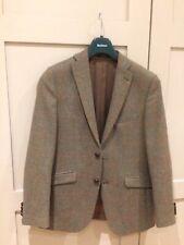 Barbour Tweed Blazer Chaqueta Traje De Caza Tiro Pez Verde Nuevo 38 Reg euro 48