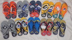 NFL Big Logo Unisex Flip Flops Thongs Sandals