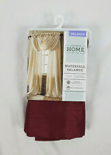 """JCPenney Home Rich Burgundy Red Plaza Waterfall Valance, 57""""x41"""""""