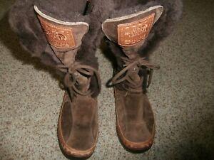 North Face Womens 200 Gram Insulation Primaloft Waterproof Boots 8.5 Brown