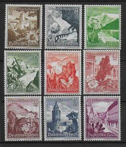 DEUTSCHES REICH 1938 MiiNr. 675-683 postfrisch**, kompletter TOP-SATZ!