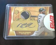 2013 TOPPS SUPREME ASIA DUSTIN PEDROIA PATCH AUTO GOLD RED SOX 1/1 RARE